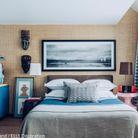 Une chambre aux touches de bleu