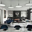 Salon minéral à l'ambiance lounge