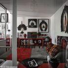 Une chambre ouverte sur le salon