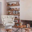 Un salon rustique et design