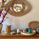 Panière habillage bougie et set de table, Atelier Vime pour Diptyque.