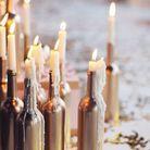 Des bouteilles relookées avec des bougies