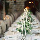 Chandeliers pour déco de table romantique et tendance