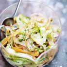 Recette minceur rapide : coleslaw de légumes printaniers