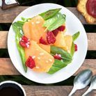 Recette minceur soir : salade melon-framboises à l'oseille