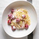 Spaghettis aux framboises