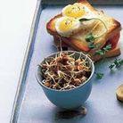 Croque et salades de graines germées