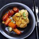 Paupiettes de poulet et carottes caramelisees