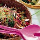 Salade de tomates, pois chiches et olives au cumin