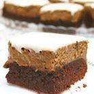 Brownies étagés au gâteau au fromage au café