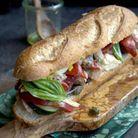En sandwich