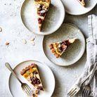 Crostata à l'amande, ricotta et confiture