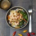 Crevettes sautées ail et piment