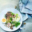 Salade quinoa, avocat et œufs
