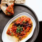 Cuisine recettes été grandes tablées : Poivrons grillés marinés