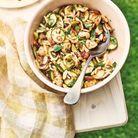 Cuisine recettes été grandes tablées : Salade de pâtes aux tomates confites et courgette