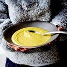 Soupe patates douces, poireaux et coco