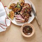 Magrets de canard marinés au café et figues au barbecue