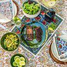 Onglet de bœuf « qui pleure » et salade thaïe