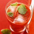 Smoothie fraises tomates cerises basilic