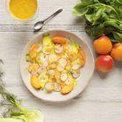 Salade fenouils, carottes et abricots