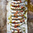 Sardines à la plancha, huile d'olive à la marjolaine