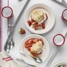 Strawberries shortcakes