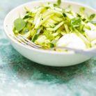 Salade de courgettes crues au citron vert