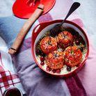 Tomates farcies au quinoa et cranberries de Christian Le Squer