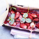 Papillote de fraises