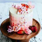 Layer cake fraise vanille