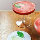 Cocktail sans alcool fraise