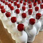 Les bouteilles d'huile Kalios avant immersion