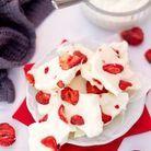 Barre de yaourt glacé aux fraises
