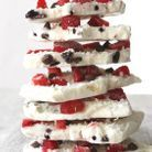 Barre de yaourt glacé cranberries et raisins