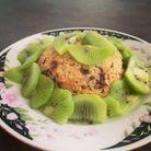 Bowl cake chocolat kiwi