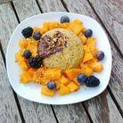 Bowl cake chocolat mangue