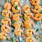 Brochettes apéritives crevettes