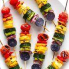 Brochettes apéritives légumes