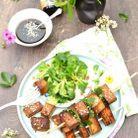 Brochettes apéritives végétariennes