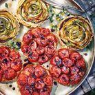 Tatins de tomates cerises