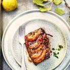 Travers de porc aux poires