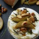 Camembert romarin, ail et poire
