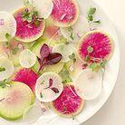 Carpaccio de légumes radis pastèque