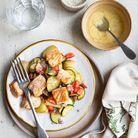 Salade de pommes de terre et saumon