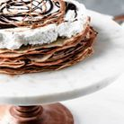 Gâteaux de crêpes au chocolat
