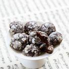 Cookies craquelés au chocolat et fleur d'oranger