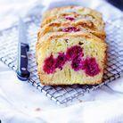 Cake amandine aux framboises