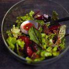 Salade Aux Prunes Sauce Au Miel