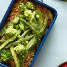 Risotto d'épeautre aux légumes verts